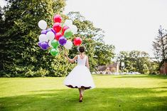 Up, up an Away!  Bright Balloons And Red Shoes For A Fun and Colourful Wizard of Oz Inspired Bride