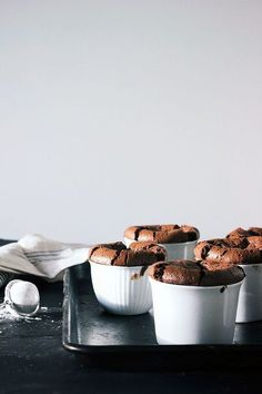 flourless dark chocolate souffle