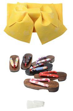 Obi / Footwear set / Pre-Tied Yellow 09