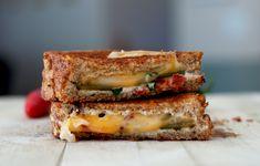 Jalapeno Grilled Cheese  bsinthekitchen.com #grilledcheese #sandwich