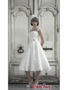 Buy Custom Made High Quality Best Selling Princess Short Lace Wedding Dresses With Straps WD-9779 at wholesale cheap prices from Bridal-Buy.com