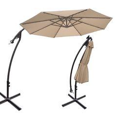 strong camel 9 cantilever solar 40 led light patio umbrella outdoor garden aluminium market