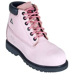 "Moxie Trades Lightweight Composite Toe Betsy Xtreme Womens 6"" Original Pink Work Boot  60121"