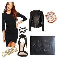 BLACK MY ONLY LOVE! by vanessagutaj on Polyvore featuring polyvore, fashion, style, Club L, Theory, ALDO, Michael Kors and Lipsy