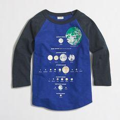 20cd40fea Boys' raglan-sleeve glow-in-the-dark moon chart storybook T-shirt. J.Crew  Factory ...