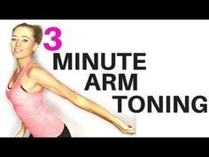 (134) ARM TONING WORKOUT FOR WOMEN - 3 minute routine to help lose arm fat and tone your arms - YouTube