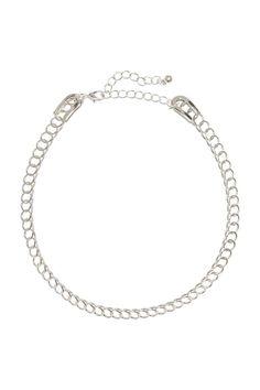 Gargantilla: Gargantilla de metal rígida. Largo ajustable, aprox. 33-41 cm.