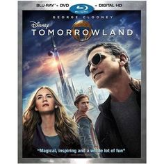 Tomorrowland (Blu-ray + DVD + UltraViolet) on Blu-ray from Disney / Buena Vista. Directed by Brad Bird. Staring Keegan-Michael Key, Raffey Cassidy, Britt Robertson and Kathryn Hahn. More Action, Mystery and Family DVDs available @ DVD Empire. Tomorrow Land, Britt Robertson, Hugh Laurie, Blu Ray Movies, New Movies, Pixar Movies, Family Movies, George Clooney, Science Fiction