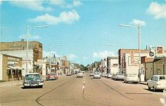 Crosby, Minnesota Street Scene 1960's Postcard. My new hometown! Doesn't look like much has changed. The bowling alley is still the same!