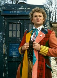 Doctor Who; the sixth Doctor; Colin Baker.