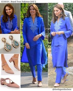 "Catherine Duchess of Cambridge on Instagram: ""The #DuchessOfCambridge stunned in cornflower blue Kurta by Pakistani designer Maheen Khan for the first engagements of #RoyalVisitPakistan…"""