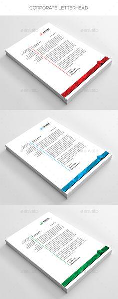 #Corporate #Letterhead - Stationery Print Templates Download here: https://graphicriver.net/item/corporate-letterhead/19724825?ref=alena994