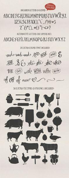Butcher Block Typeface