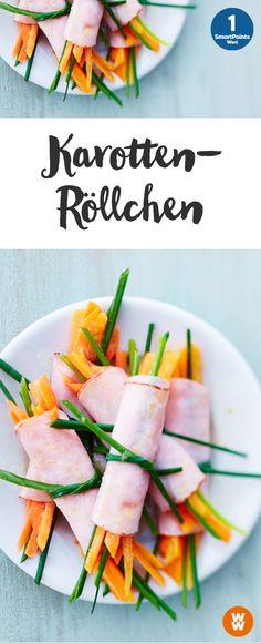 Karotten-Geflügel-Röllchen | 1 SmartPoint/Portion, Weight Watchers, fertig in 10 min.