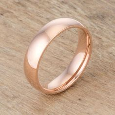 5 mm IPG Rose Gold Stainless Steel Band Stainless Steel Wedding Bands, Stainless Steel Jewelry, White Gold Wedding Bands, Wedding Rings, Engagement Bands, Rose Gold Plates, Fashion Rings, Rings For Men, Pure Products