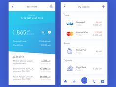Bank Account by Vladimir Gruev #Design Popular #Dribbble #shots