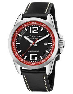 89081edd698 Stuhrling Original Men s Concorso Cabriolet Automatic or Brown Tan  Silvertone Watch