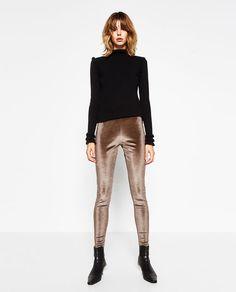 $29.90 VELVET LEGGINGS from Zara