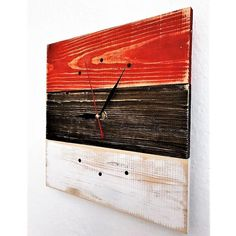 Ceas de Perete din Lemn Masiv CPT2602-30 Custom Jewelry Design, Custom Design, Natural Wood, Home Accessories, House Design, Wall Clocks, Wood Wall, Handmade, Industrial