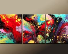 Abstract Art Painting 24x36 Original Contemporary Art by wostudios
