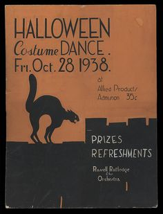 Nothing says Halloween party more than a cool flyer. Halloween Party Poster, Halloween Dance, Halloween Flyer, Halloween Photos, Halloween Dress, Cute Halloween, Vintage Halloween, Halloween Costumes, Vintage Theme