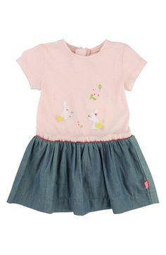 Billieblush Graphic Short Sleeve Dress (Baby Girls)