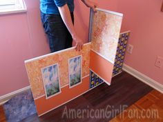 These could be made from foam core posterboard and decorated with scrapbook papers to make cute doll rooms.