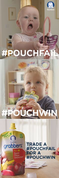 It's time to make mealtime easier for your toddler.  Introducing Gerber's Smart Flow™ spout on pouches now!