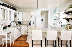 cottage fresh kitchen makeover, diy, kitchen cabinets, kitchen design, shelving ideas