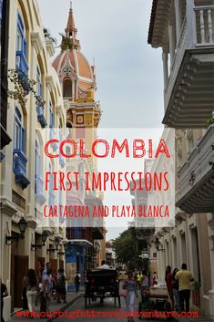 From huge avocados to colourful colonial towns, here are our Colombia first impressions from week one of our trip through South America. Including a week in Cartagena and a visit to Playa Blanca Colombia first impressions | Colombia | Cartagena | Cartagena de Indias | Playa Blanca | First Impressions  #colombiafirstimpressions #colombia #cartagena #playablanca #cartagenadeindias #firstimpressions