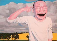 Yue Minjun, 'Field,' 2005, Burning in Water