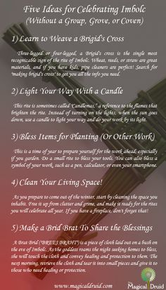 Great activities for Imbolc ~ TheHealingWalk.com