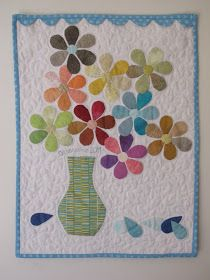 Patchwork Co. Applique Patterns, Applique Quilts, Quilt Patterns, Applique Ideas, Sewing Patterns, Small Quilts, Mini Quilts, Flower Quilts, Quilted Wall Hangings