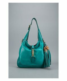 Gucci teal leather New Jackie vintage tassel hobo Review Buy Now