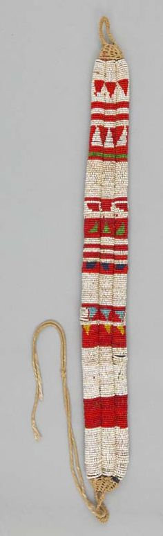 Africa | Beaded belt from Kenya | Sisal, glass beads and plant fiber | ca. 20th century