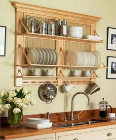 Diy kitchen rack shelves home decor 28 Ideas Kitchen Shelves, Diy Kitchen, Kitchen Storage, Kitchen Decor, Kitchen Wood, Kitchen Ideas, Messy Kitchen, Wall Storage, Kitchen Small
