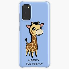 """Cute baby giraffe happy birthday"" Case & Skin for Samsung Galaxy by jakezbontar   Redbubble Samsung Cases, Samsung Galaxy, Phone Cases, Giraffe Happy Birthday, Protective Cases, Cute Babies, Wraps, Iphone, Baby"