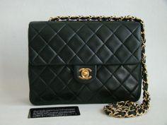 Chanel Vintage Black Lambskin Small Flap Bag