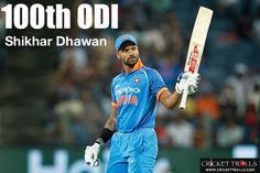 Shikhar Dhawan is playing his 100th ODI for India today #SAvIND #INDvSA #4thODI #PinkODI - facebook.com/MyCricketTrolls