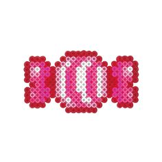 Candy perler beads Pearler Bead Patterns, Perler Patterns, Pearler Beads, Hama Beads Kawaii, Christmas Perler Beads, Halloween Beads, Hama Beads Design, Iron Beads, Beaded Cross