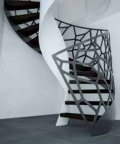 Amazing Architectural Staicases by EeStairs - the railing reminds me of a popular Janus et Cie chair back