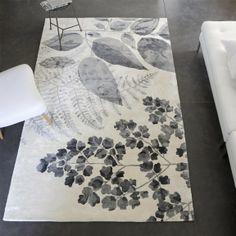 Designers Guild Jindai Graphite Statement Tufted Botanical #Rug #urban #scandi #lookbook #SS14 #interiordesign