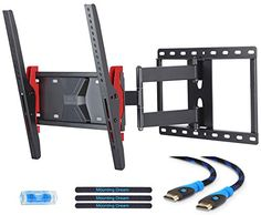 Mounting Dream MD2722 TV Wall Mount Bracket for most of 2655 Inch LED LCD OLED and Plasma Flat Screen TV with Full Motion Swivel Articulating Arm up to VESA 400x400mm and 77 lbs with Tilting -- You can find out more details at the link of the image.