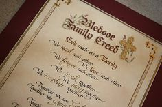 1000 Images About Family Creed On Pinterest