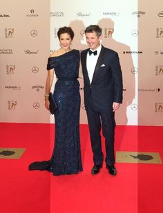 Crown Princess Mary and Crown Prince Frederik of Denmark at the Bambi Awards in Berlin. Germany 13 November 2014