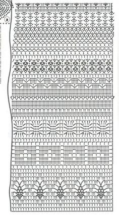 Fabulous Crochet a Little Black Crochet Dress Ideas. Georgeous Crochet a Little Black Crochet Dress Ideas. Filet Crochet, Plaid Au Crochet, Crochet Stitches Chart, Crochet Motifs, Crochet Diagram, Crochet Lace, Crochet Hooks, Crochet Skirts, Crochet Clothes