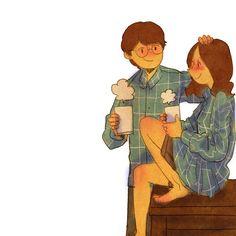 감기 걸렸어요.  몸이 으슬으슬해요. 나 안아줘요.따뜻한거 마시면 금방 나을거예요.따끈따끈 붕어빵 맛있어요.당신의 미소를 사랑해요.괜찮아요? 응!무릎에 앉아요.한참을 떠들었어요.사랑해요.