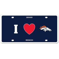 """Checkout our #LicensedGear products FREE SHIPPING + 10% OFF Coupon Code """"Official"""" Denver Broncos Styrene License Plate - Officially licensed NFL product Licensee: Siskiyou Buckle    Denver Broncos - Price: $16.00. Buy now at https://officiallylicensedgear.com/denver-broncos-styrene-license-plate-fslph020"""