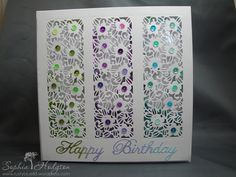 Card made using the Creative Expressions striplet die