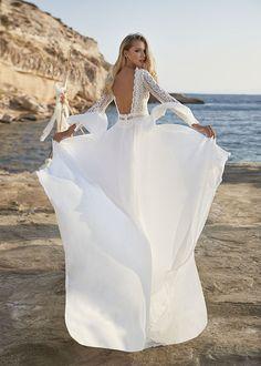 Boho Hippie Brautkleid Trompetenärmel lange Ärmel Spitze Boho Bride, Boho Wedding Dress, Boho Dress, Wedding Gowns, Rembo Styling, Stella York, Fascinator, Pronovias, Easy Shape